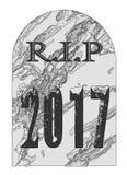 Остатки в могильном камне 2017 мира Стоковая Фотография RF