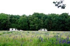 Остатки казарм в лагере перехода Westerbork Стоковое Фото