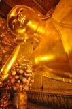 Остатки позиции Будды в положении сна Стоковая Фотография