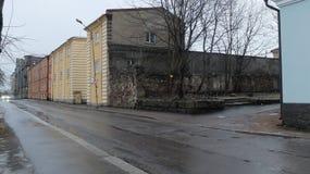 Остатки разрушенных домов Стоковые Изображения