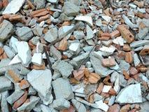 Остатки разрушенных домов Стоковая Фотография