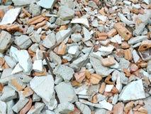 остатки разрушенных домов Стоковые Изображения RF