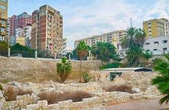 Остатки римской деревни в Александрии, Египте Стоковые Фото
