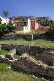 Остатки старых Афин и акрополя стоковое изображение