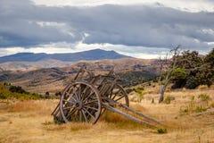 Остатки старых горнорабочих покинули городок, Bendigo, Новую Зеландию Стоковые Изображения RF