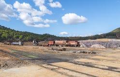 Остатки старых шахт Riotinto в Уэльве Испании стоковые изображения