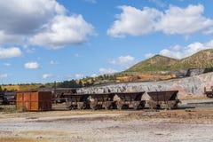 Остатки старых шахт Riotinto в Уэльве Испании стоковая фотография rf