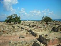 Остатки Kerkouane, Туниса Стоковое Фото