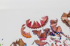 Остаток карандаша цвета Стоковые Фото