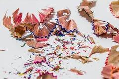 Остаток карандаша цвета Стоковая Фотография