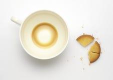 Остаток кофе и сломленных печениь Стоковое фото RF