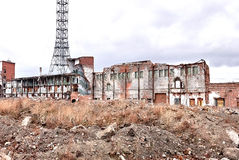 Остаются кирпичные здания Стоковое Изображение RF