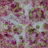 остервенение предпосылки флористическое затрапезное Стоковая Фотография RF
