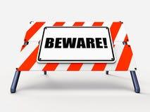 Остерегите середины знака предупреждая сигнал тревоги или опасность бесплатная иллюстрация