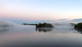 Острова в тумане Стоковая Фотография RF