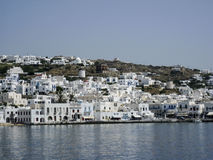 Острова грека ветрянок Mykonos Стоковые Фотографии RF
