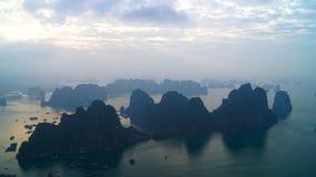 Острова залива Ha длинние Восход солнца Стоковое Фото