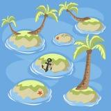 Острова зеленого цвета моря Стоковое Изображение