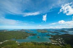 Острова и ландшафт Sai Kung стоковые изображения rf