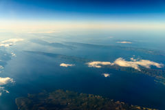 Острова и Средиземное море земли Стоковые Фото