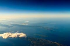 Острова и Средиземное море земли Стоковая Фотография