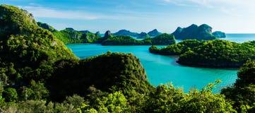 Острова морского парка ремня Ang национальные в Таиланде Стоковые Фото