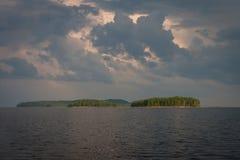 Острова на северном озере Стоковое Изображение