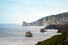 острова утесистая Сардиния Стоковая Фотография