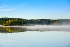 Острова утра туманные Стоковая Фотография
