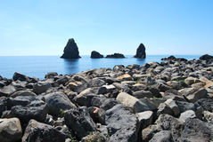 Острова циклопов - Сицилия Стоковые Изображения RF