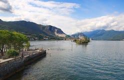 Острова Borromean - остров ` s рыболовов Isola Superiore на озере Maggiore - Stresa - Италии Стоковая Фотография RF