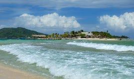 Острова Cayo Cachinos, Гондурас стоковое фото rf