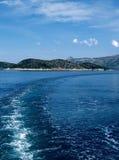 острова elaphiti сценарные стоковое изображение