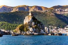 Острова Katic, Petrovac Стоковые Изображения RF
