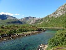 Острова Lofoten, Норвегия Норвежское море Стоковые Изображения