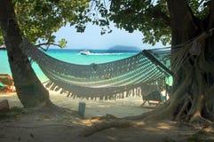 Острова Phi Phi - гамак - Таиланд Стоковое Изображение