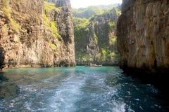 Острова Phi Phi - пляж - Таиланд Стоковая Фотография