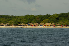 Острова Rosario архипелаг состоя из 27 островов расположенных около 2 часа шлюпкой от Cartagena de Indias, Колумбии. Стоковое фото RF