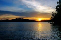 Острова Togean на заходе солнца Индонезия Стоковые Изображения
