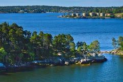Островки архипелага Стокгольма в Балтийском море, Швеции Стоковые Изображения RF