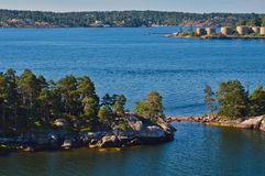 Островки архипелага Стокгольма в Балтийском море, Швеции Стоковое фото RF