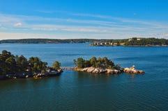 Островки архипелага Стокгольма в Балтийском море, Швеции Стоковое Изображение