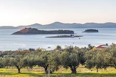 Островки перед Pakostane стоковое изображение rf