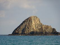 Остров акулы, популярное пятно подныривания в Объединенных эмиратах Стоковые Изображения RF