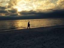 Остров Анны Марии на заходе солнца Стоковые Изображения