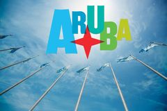 Остров Аруба тропический Стоковая Фотография