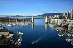 Остров Ванкувер Канада False Creek и Granville Стоковые Фото