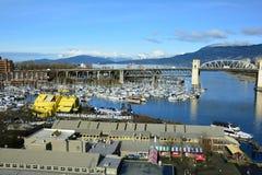 Остров Ванкувер Канада False Creek и Granville Стоковая Фотография RF
