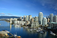 Остров Ванкувер Канада False Creek и Granville Стоковые Изображения RF