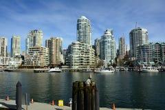 Остров Ванкувер Канада False Creek и Granville Стоковое фото RF